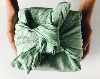 Furoshiki wrapping cloth / Reusable gift wrap / Japanese textiles / Eco-friendly alternative gift wrap / Traditional Japanese culture