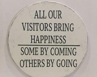 Visitors Sign