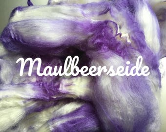 Combed Mulberry silk hand dyed No. 202