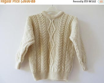 ON SALE Cable Knitted Kids Sweater New Wool Sweater Aran Knit Sweater Ivory White Nordic Pullover Harry Potter Sweater Warm Chunky Ski Pullo