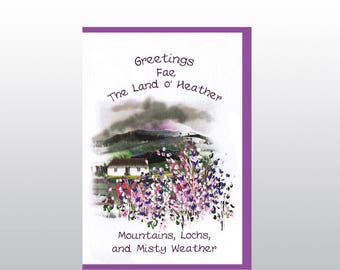 Greetings 'Fae the Land o Heather' Card WWGR28