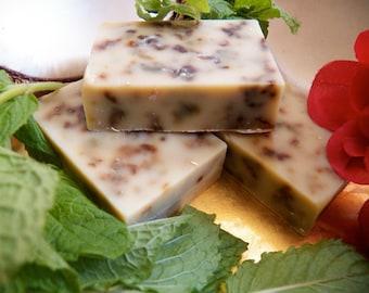 Rose Petal, Mint and Coconut Milk Soap