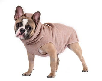 17. Sold out! SOFT SEDONA HEATHER Polartec 200 dog sweater  soft, cozy, dog coat, indoor, outdoor, french bulldog, pug, boston terrier