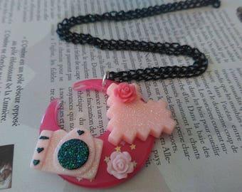 Kawaii Moon geeky necklace