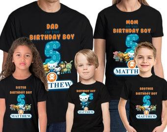 Octanauts Birthday Shirt Add Name & Age Octanauts Custom Birthday Party T-Shirt