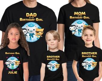 Octanauts Shirt Custom  Name & Age Personalized Octanauts Birthday Shirt Family Birthday Shirts