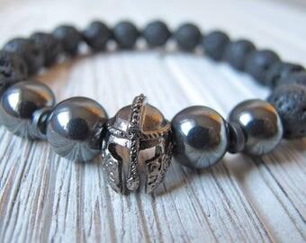 Men's Essential Oil Diffuser, Father's Day Gift, Hematite Jewelry, Viking Bracelet, Men's Stretch Bracelet, Men's Gift, FoxAndBearEssentials