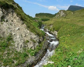 Original placemat laminated landscape Hautes Pyrenees