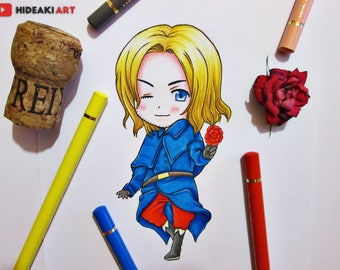 Chibi France || Hetalia || ORIGINAL DRAWING