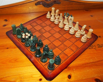 leather chessboard, celtic chessboard, celtic board game, celtic design leather