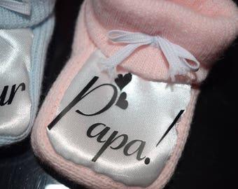 chausson de bébé personnalisé
