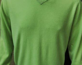 Club Room Vintage Men's Cashmere Sweater, Pale Green Pullover Sweater, Men's Large Cashmere Sweater
