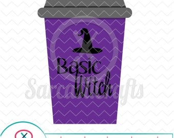 Basic Witch - Halloween Graphic - Digital download - svg - eps - png - dxf - Cricut - Cameo - Files for cutting machines