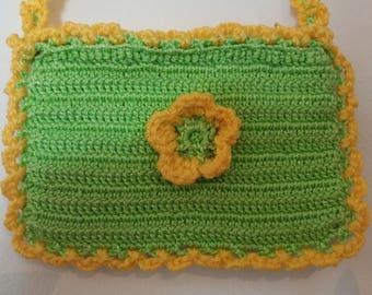 Girls green and yellow bag