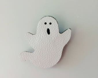 White Leather Cute Halloween Ghost Hair Clip