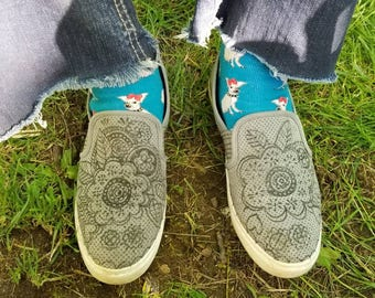 Hand made art on shoes