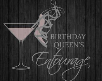 Birthday Entourage SVG/PNG Design