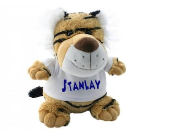 Plush Tiger to be personalized with text or photo.