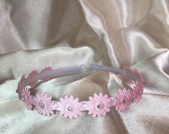 Pink Bridesmaid hair band, Bridesmaid hair accessories, Bridesmaid Hairpiece, Bridesmaid Headband, Bridal, Wedding, flower girl accessories