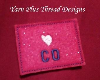 Colorado Feltie Embroidery Design