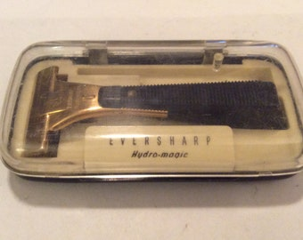 Schick Eversharp Hydro-magic Injector safety razor with case
