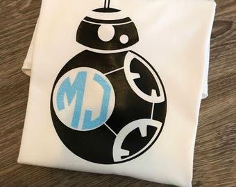 Bb8 shirt, bb8, Star Wars shirt, Star Wars birthday shirt, Star Wars personalized shirt, Star Wars birthday, bb8 birthday, birthday shirt,