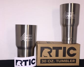 rtic cup decal   Customized Stainless Steel Cup   Engraved Personalized RTIC Tumbler  
