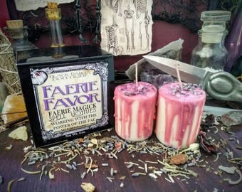 FAERIE FAVOR Faerie Magick Spell Votives