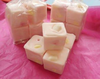 Pink lemonade wax chunks