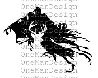 Harry Potter Dementor and Stag Patronus SVG - Harry Potter Clipart Images - Always vector - Digital Clip Art - Instant Download - Graphics