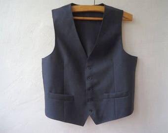 Men's Vest Blue Grey Mens Vest Formal Gentlemen's Steampunk Edwardian Victorian Renaissance Waistcoat