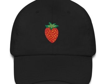 Strawberry Embroidered Fruit Hat Cap