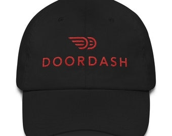 Doordash Hat Embroidered for Delivery Drivers