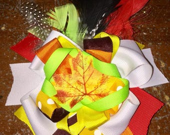 Thanksgiving/fall bow