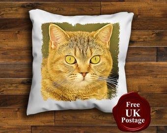 The Korthaar Cat Design Cushion Cover Choice Of Sizes Handmade