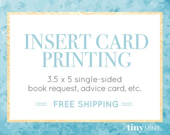 Insert Card Printing Service   3.5 x 5 Single-Sided Insert Card   High Quality Professional Insert Card Printing