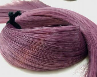 Leela Dark Mauve Purple Nylon Doll Hair Hank for Rerooting Barbie® Monster High® Ever After High® My Little Pony Fashion Royalty Disney