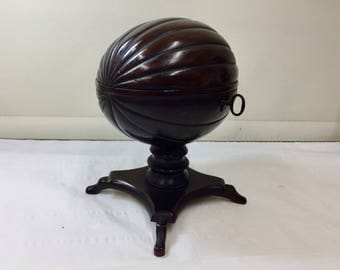 Rare Antique Coconut Tea Caddy