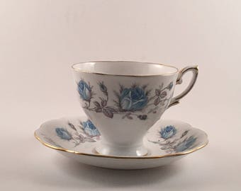 Royal Standard Turquoise Blue Tea Cup and Saucer