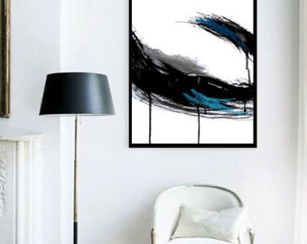 Black Giclee print, Abstract art print, Modern print, Wall art print, Abstract painting print, Giclee abstract print, Wall art, Home decor