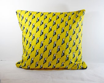 Pillow cover printed toucan 40 x 40 or 50 x 30 - personalized gift Christmas - gift for woman