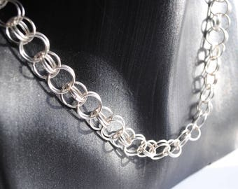 Jewellery gift, handmade necklace, necklace for women, necklace for men, 20 gauge jump ring necklace, chainmaille jewellery