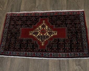 Handmade Small Entrance Bidjar Sanneh Persian Rug Oriental Area Carpet 2X3