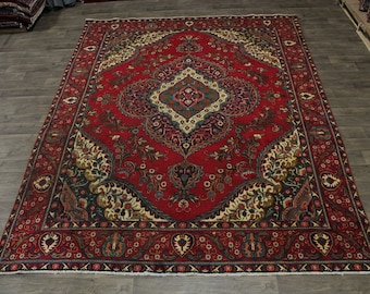 Lovely Antique Hand Knotted Rare Tabriz Persian Rug Oriental Area Carpet 10X13