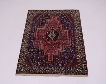 Unusual S Antique Handmade Tribal Hamedan Persian Rug Oriental Area Carpet 5X6