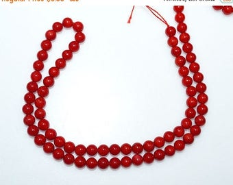 50% OFF 1 Strand Red Bamboo Coral Smooth Round Beads 15.5 Inch Strand , Coral Smooth Round Beads , Smooth Round Beads , 5 mm - MC996