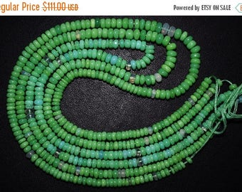"""50% OFF Ethiopian Opal Smooth Rondelle Beads-Ethiopian Opal Smooth Beads, 3.75 - 5 mm, 14"""" - EO171"""