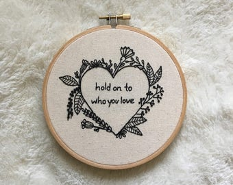 Blooms Customizable Embroidery Hoop