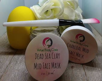 Face Mask Duo | Face Mask Gift Set | Face Mask Variety Pack | Mothers Day Gifts | Anniversary Gift | Handmade | VirtuesBodyCare