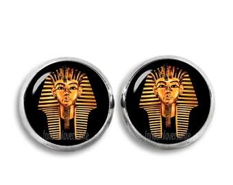 Tutankhamun Stud Earrings Egyptian pharaoh Earrings 12mm Pharaoh Earrings Ancient Egypt